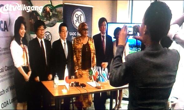 2015年   対SADCの初の技術協力プロジェクト開始式・記者発表会にて